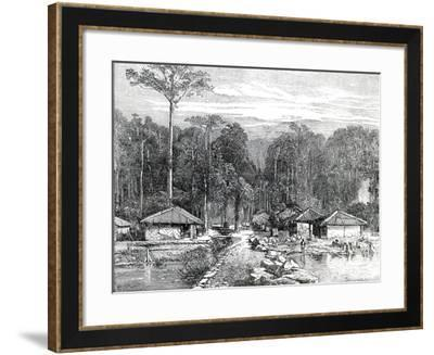 The Adaman Islands: Hope Town with Mount Harriet--Framed Giclee Print