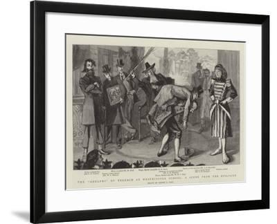 The Adelphi of Terence at Westminster School, a Scene from the Epilogue-Sydney Prior Hall-Framed Giclee Print