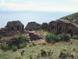 The Adlahuasi or the Temple of the Virgins of the Sun on the Island of the Moon, Lake Titicaca
