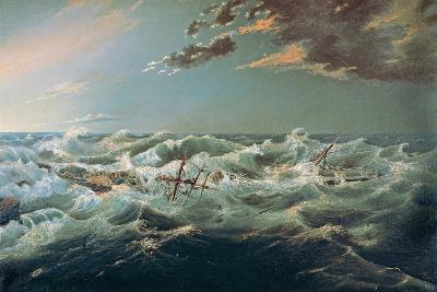 The Admella Wrecked, Cape Banks, 6th August, 1859-James Shaw-Giclee Print