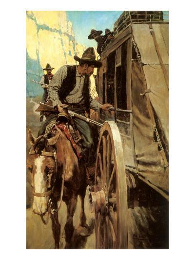 The Admirable Outlaw, 1906-Newell Convers Wyeth-Giclee Print