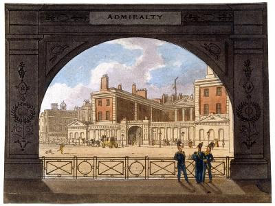 The Admiralty, Whitehall, Westminster, London, C1820--Giclee Print
