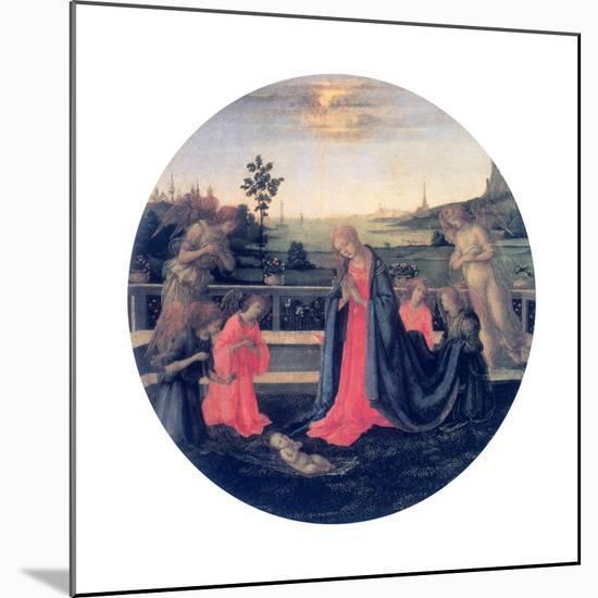 The Adoration, C1480s-Filippino Lippi-Mounted Giclee Print