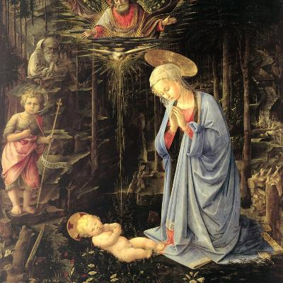 The Adoration in the Forest, 1459-Fra Filippo Lippi-Giclee Print
