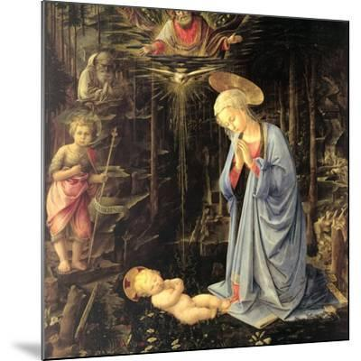 The Adoration in the Forest, 1459-Fra Filippo Lippi-Mounted Giclee Print