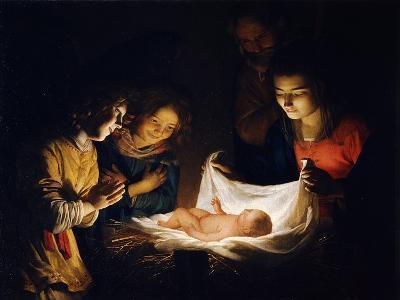 The Adoration of the Christ Child, C. 1620-Gerrit van Honthorst-Giclee Print