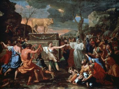 The Adoration of the Golden Calf, C1635-Nicolas Poussin-Giclee Print