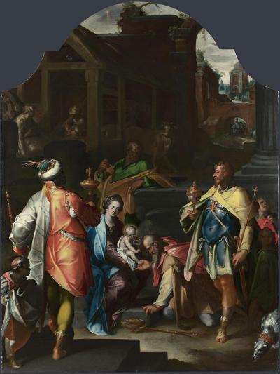 The Adoration of the Kings, Ca 1595-Bartholomeus Spranger-Giclee Print