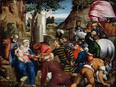 The Adoration of the Kings, Early 1540s-Jacopo Bassano-Giclee Print