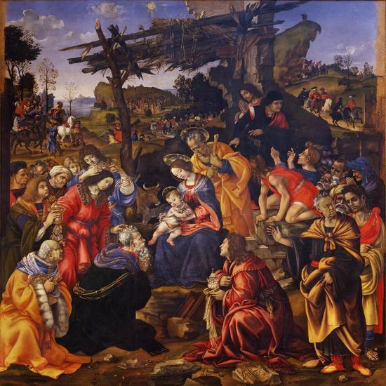The Adoration of the Magi, 1496-Filippino Lippi-Giclee Print