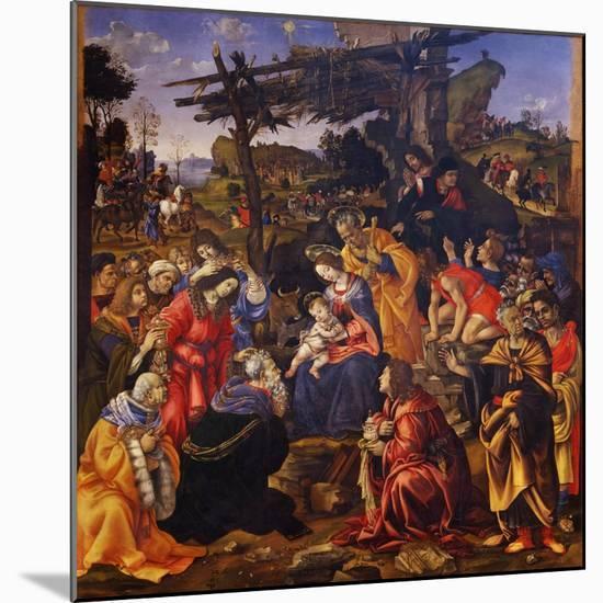 The Adoration of the Magi, 1496-Filippino Lippi-Mounted Giclee Print
