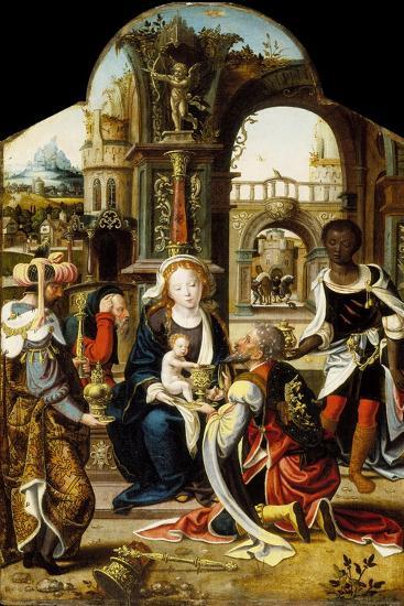 The Adoration of the Magi, 1530-Pieter Coecke van Aelst-Giclee Print