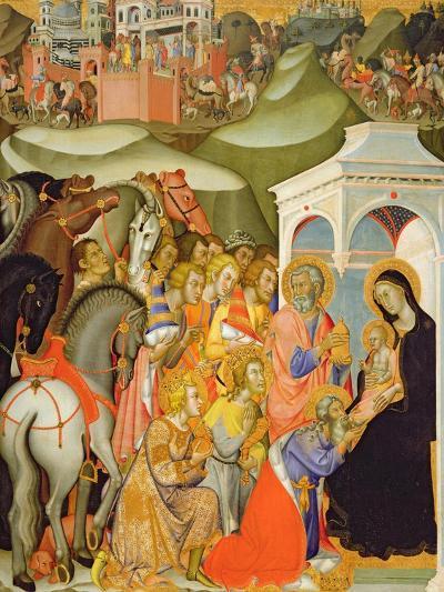 The Adoration of the Magi, c.1380-Also Manfredi De Battilori Bartolo Di Fredi-Giclee Print