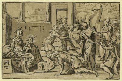 The Adoration of the Magi. Chiaroscuro Woodcut--Giclee Print