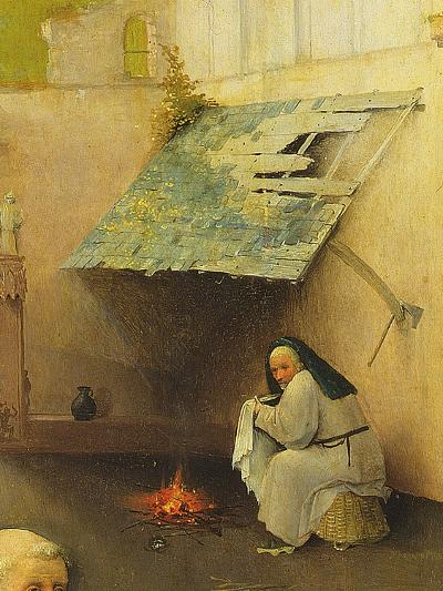 The Adoration of the Magi, Detail of a Background Figure, 1510 (Detail of 3427)-Hieronymus Bosch-Giclee Print
