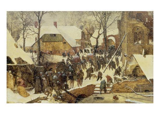 The Adoration of the Magi in the Snow, 1567-Pieter Bruegel the Elder-Premium Giclee Print