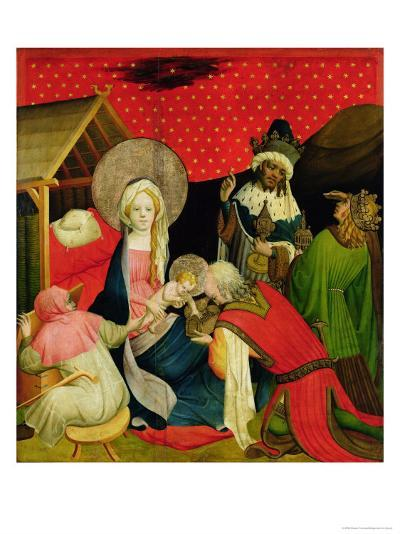 The Adoration of the Magi, Panel from St. Thomas Altar from St. John's Church, Hamburg, Begun 1424- Master Francke-Giclee Print