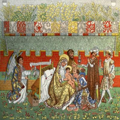 The Adoration of the Magi, the Tapestry of Berne, 14th Century--Giclee Print