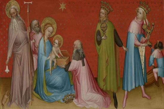 The Adoration of the Magi with Saint Anthony Abbot, c.1400-Franco-Flemish School-Giclee Print