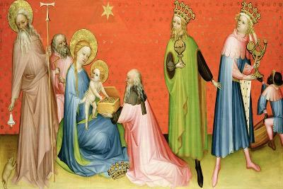 The Adoration of the Magi with St Anthony Abbot, 1400-10-German School-Giclee Print