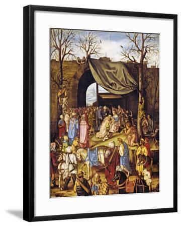 The Adoration of the Magi-Netherlandish School-Framed Giclee Print