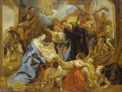 The Adoration of the Sheperds, 1653-Jacob Jordaens-Giclee Print
