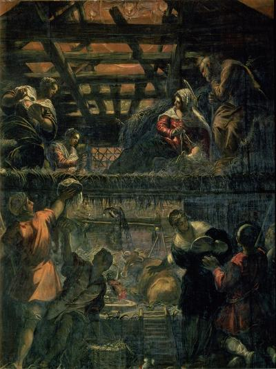 The Adoration of the Shepherds, 1578-81-Jacopo Robusti Tintoretto-Giclee Print
