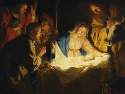The Adoration of the Shepherds, 1622-Gerrit van Honthorst-Giclee Print