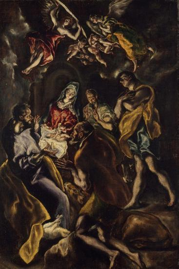 The Adoration of the Shepherds, c.1612-14-El Greco-Giclee Print