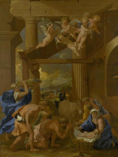 The Adoration of the Shepherds, C. 1633-Nicolas Poussin-Giclee Print