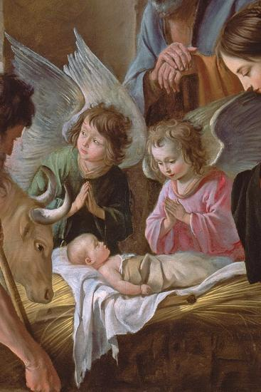 The Adoration of the Shepherds, C.1638 (Detail)-Antoine And Louis & Mathieu Le Nain-Giclee Print