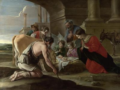 The Adoration of the Shepherds, C. 1640-Louis Le Nain-Giclee Print