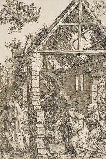 "The Adoration of the Shepherds, from the Series ""The Life of the Virgin"", C.1502-03-Albrecht D?rer-Giclee Print"