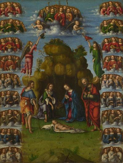 The Adoration of the Shepherds with Angels, 1499-Lorenzo Costa-Giclee Print