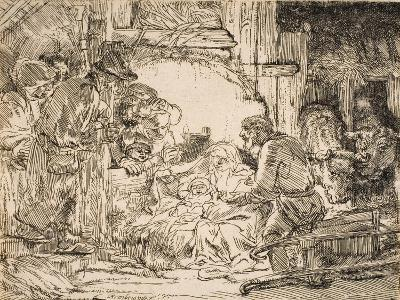 The Adoration of the Shepherds with the Lamp, 1654--Giclee Print