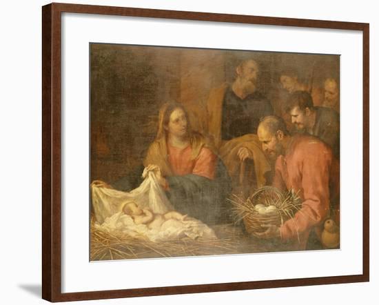 The Adoration of the Shepherds-Giovanni Andrea De Ferrari-Framed Giclee Print