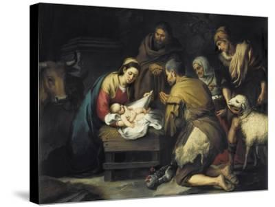 The Adoration of the Shepherds-Bartolome Esteban Murillo-Stretched Canvas Print
