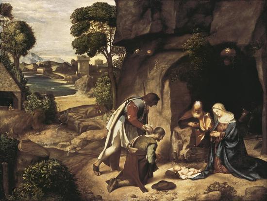 The Adoration of the Shepherds-Giorgione-Art Print