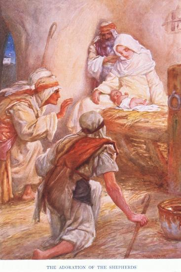 The Adoration of the Shepherds-Arthur A^ Dixon-Giclee Print