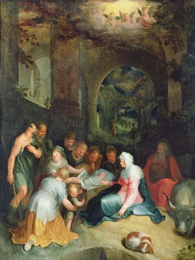 The Adoration of the Shepherds-Karel Van Mander-Giclee Print