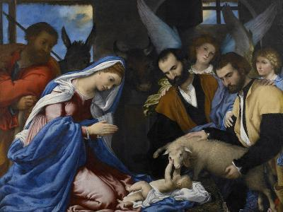 The Adoration of the Shepherds-Lorenzo Lotto-Giclee Print
