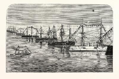 The Adriatic: the Prince of Montenegro Visiting the Allied Fleet--Giclee Print