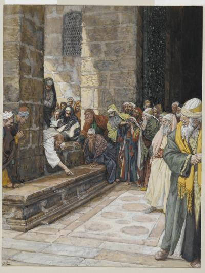 The Adulterous Woman - Christ Writing Upon the Ground-James Tissot-Giclee Print