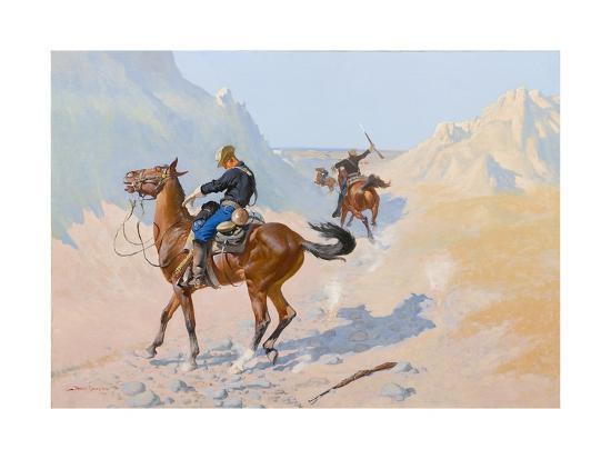 The Advance-Guard, or the Military Sacrifice (The Ambush), 1890-Frederic Remington-Giclee Print