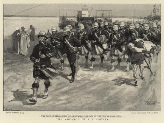 The Advance in the Soudan-Frank Craig-Giclee Print