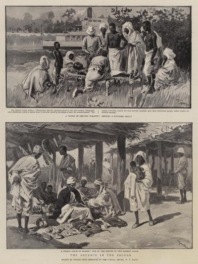 The Advance in the Soudan-Oswaldo Tofani-Giclee Print