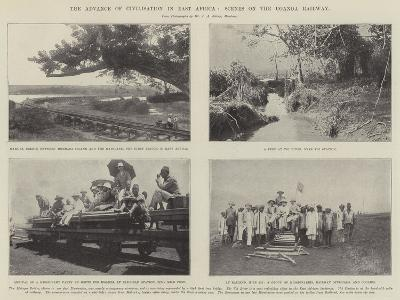 The Advance of Civilisation in East Africa, Scenes on the Uganda Railway--Giclee Print