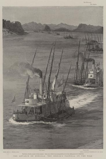 The Advance on Dongola, the Sirdar's Flotilla on the Nile-William Lionel Wyllie-Giclee Print