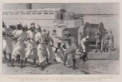 The Advance on Omdurman, Laying the Telegraph Cable across the Nile-William Small-Giclee Print