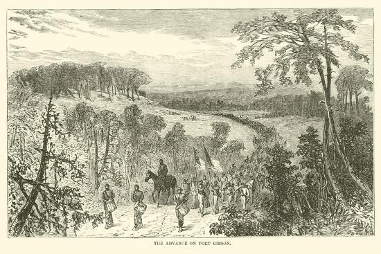 The Advance on Port Gibson, April 1863--Giclee Print